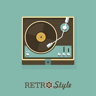 Speler voor vinylplaten. embleem, embleem.