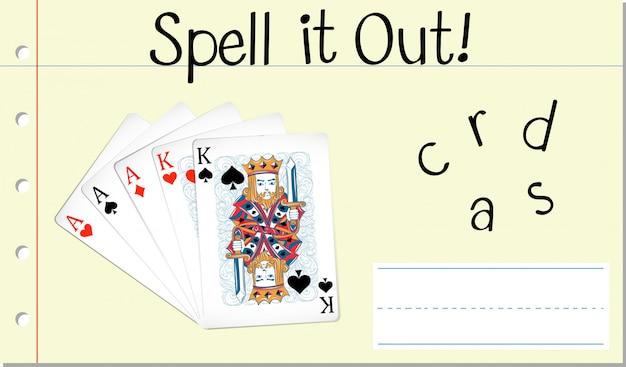 Spellen de kaarten uit