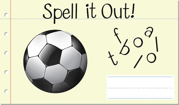 Spellen engels woord voetbal