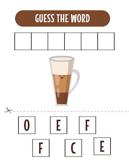 Spelling woordspel met woord paard illustratie