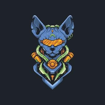 Sphynx cat illustratie