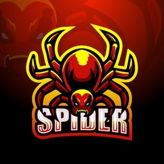 Spider mascotte logo ontwerp
