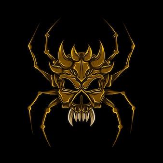 Spider schedel vector kunst