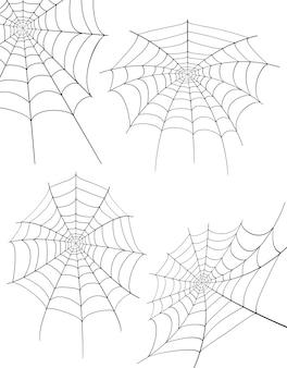 Spider web voorraad vector illustratie