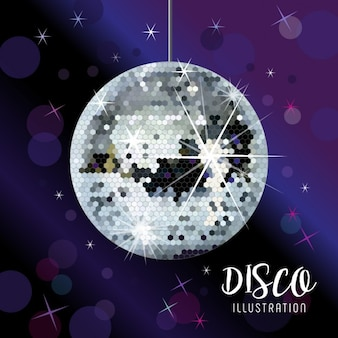Spiegel disco bal vector illustratie