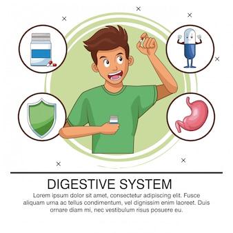 Spijsverteringssysteem poster met informatie