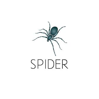 Spin logo grafisch ontwerpconcept. bewerkbaar spider-element, kan worden gebruikt als logo, pictogram, sjabloon in web en print