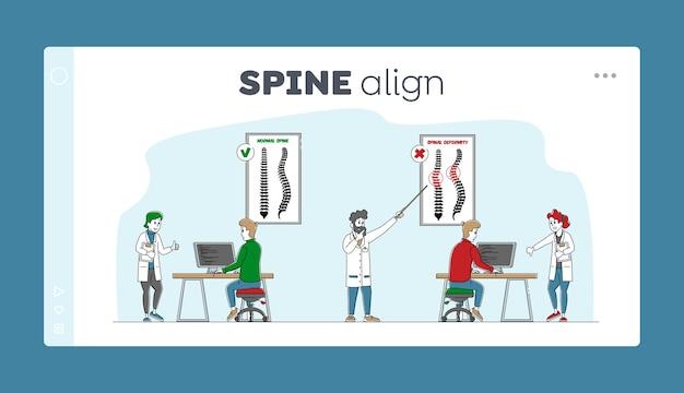 Spinale misvorming scoliose en kromming van de ruggengraat van de wervelkolom