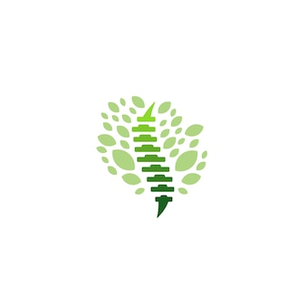 Spine backbone orthopaedics health logo