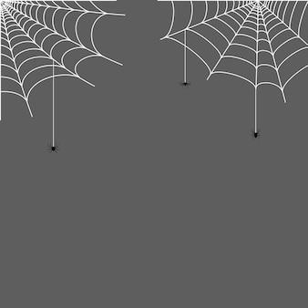 Spinnenweb hoek illustratie. halloween-decoratie met spinnenweb. eenvoudige spinnenwebvector