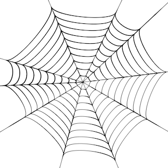 Spinnenweb vectorillustratie. halloween-decoratie met spinnenweb. spinnenweb overzichtsafbeelding