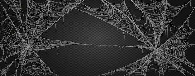 Spinnenweb voor halloween, spookachtig, eng, horror decor.