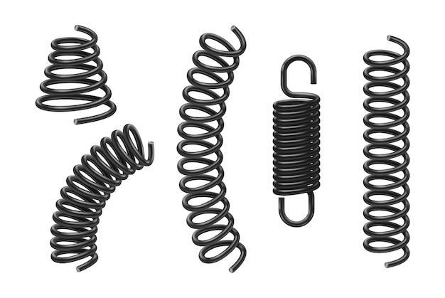Spiraalveren of machine-absorbers realistische 3d-objecten