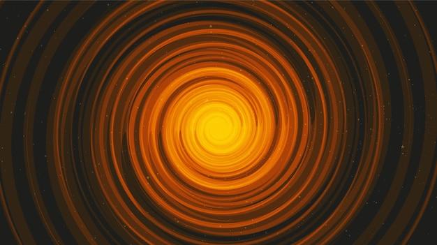 Spiraalvormig zwart gat op zwarte galaxy-achtergrond. planeet en natuurkunde.