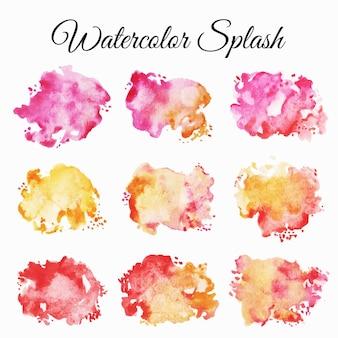 Splash aquarel set illustratie