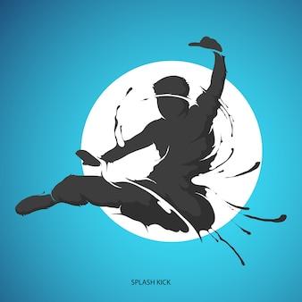 Splash-kick vechtsporten