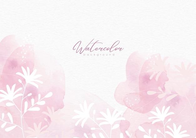 Splash silhouet van bloemen aquarel achtergrond