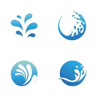 Splash water natuur logo en symbool vector afbeelding