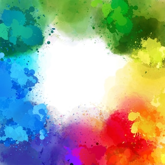 Splashachtergrond van verschillende regenboogkleuren