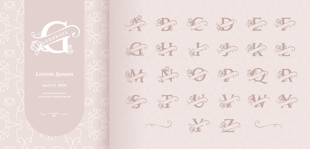 Split letters alfabet