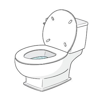 Spoel het toilet door