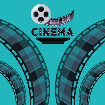 Spoel met filmstrips naar korte filmscene