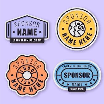 Sponsor die stickerspakket promoot