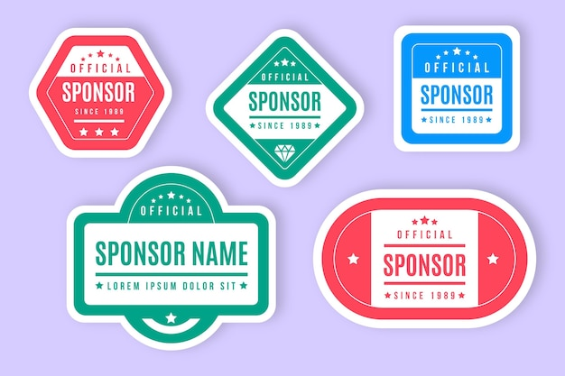 Sponsor stickers collectie