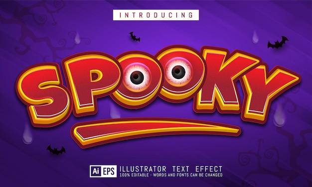 Spookachtig bewerkbaar tekststijleffect geschikt voor halloween-bannergebeurtenisthema