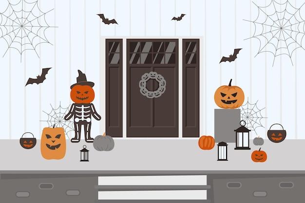 Spookachtige halloween-huisdecoraties
