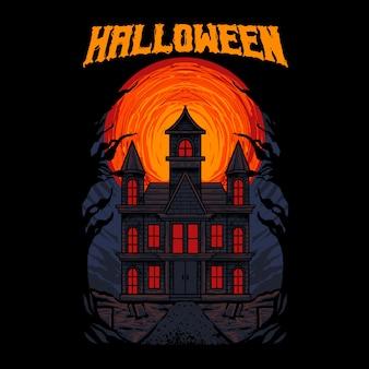 Spookhuis spook illustratie
