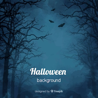 Spooky aquarel halloween achtergrond