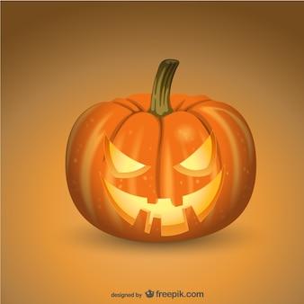 Spooky halloween pompoen
