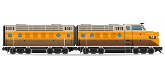 Spoorlijn locomotief trein.