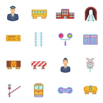 Spoorlijn pictogrammen instellen