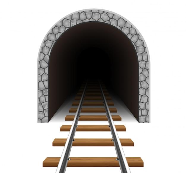 Spoorlijn tunnel vectorillustratie