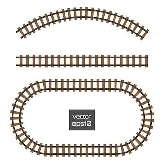 Spoorweg geïsoleerd op transparant.