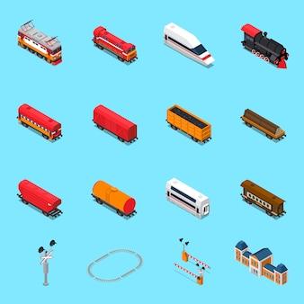 Spoorweg isometrische elementen