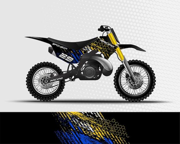 Sport achtergrond abstract ontwerp voor race motorfiets motorcross crossmotor