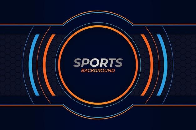 Sport achtergrond blauw en oranje stijl