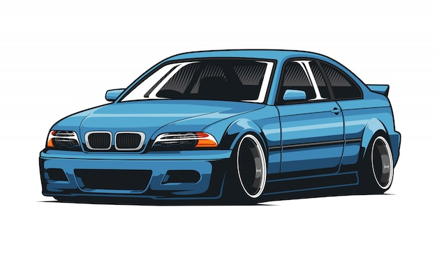 Sport auto jdm illustratie