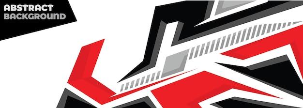 Sport auto sticker abstracte geometrische stijl