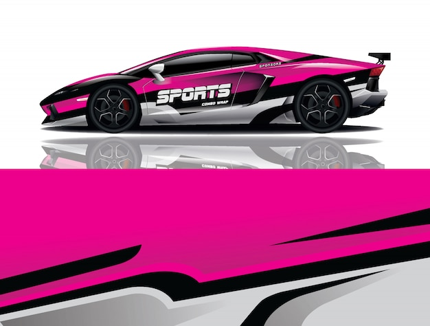 Sport auto sticker wrap illustratie