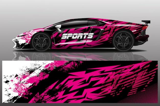 Sport auto sticker wrap illustratie