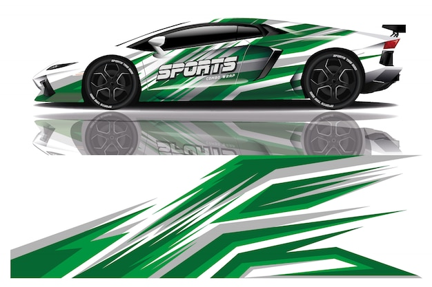 Sport auto sticker wrap ilustration