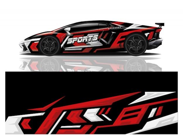Sport auto sticker wrap ontwerp vector