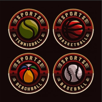 Sport badge logo instellen