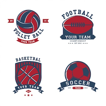 Sport badges logo sjabloon