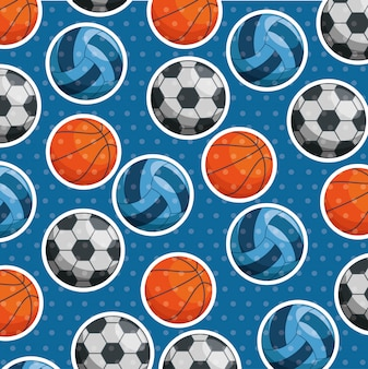 Sport ballen patroon
