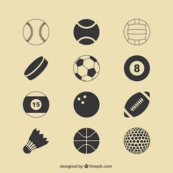 Sport ballen pictogrammen